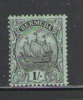 Bermuda Sc 48 1912 1 shilling caravel stamp mint