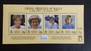 BIOT 1998 Diana, Princess of Wales Commemoration  Mint