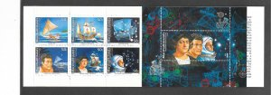 MICRONESIA #424a  LEGENDS OF DISCOVERY BOOKLET  MNH