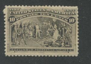 1893 US Stamp #237 10c Mint Hinged F/VF Original Gum Catalogue Value $90