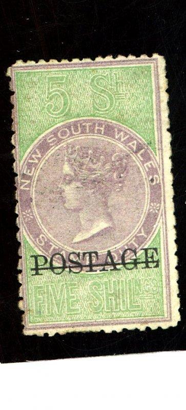 New South Wales #72 Mint Fine OG HR Cat$1100