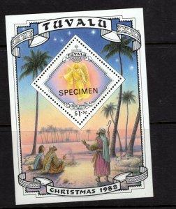 Tuvalu  #514 (1988 Christmas sheet) VFMH SPECIMEN overprint