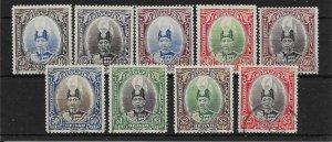 MALAYA KEDAH SG60/8 1937 DEFINITIVE SET USED
