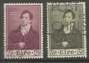 IRELAND 145-146  USED, DEATH CENTENARY OF THOMAS MOORE, POET