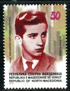 313 - MACEDONIA 2019 - Rade Jovchevski Korchagin - National Hero - MNH Set