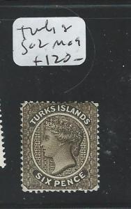 TURKS ISLAND (P1508B) QV 6D  SG2  MOG