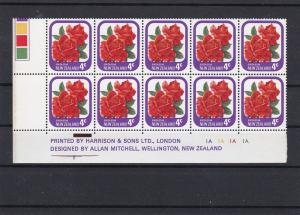 New Zealand Mint Never Hinged Stamps Block Ref 31381