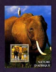BENIN - 2006 - ELEPHANTS - AFRICAN ELEPHANT - BIRD - PERF - MINT - MNH S/SHEET!