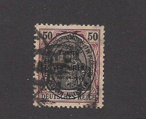 Allenstein, 22, German Stamps 1906-20 Overprinted Single, **Used** (Z1)
