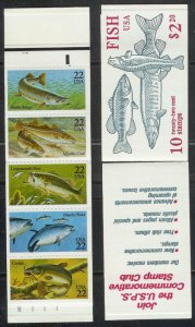 USA Stamps 1986 Fish Stamps/Booklet of 10 , CV $18 Scott # BK 154 MNH OG