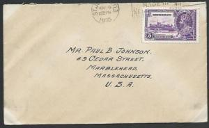 NEWFOUNDLAND 1935 5c Jubilee on cover - first day cancel...................53080