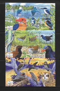 BIRDS - SOLOMON ISLANDS #983-85  (3 SHEETS OF 6)  MNH