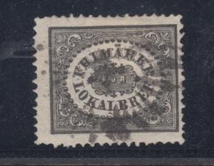 Sweden Sc LX1a used. 1856 3o gray black City Postage on thin paper, sound