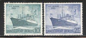 Berlin # 9N113-4, Mint Hinge. CV $ 7.00