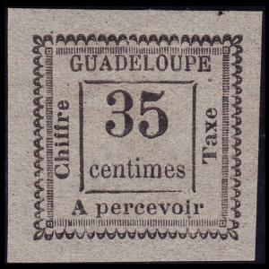 Guadeloupe Scott J11 (1884) Mint H VF, CV $60.00