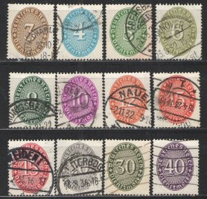 Germany - Weimar Era 1927-33 Officials lot Used VG Nice lot various Officials