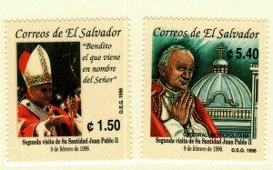 El Salvador #1429-30 MNH Pope John Paul II CV$6.50