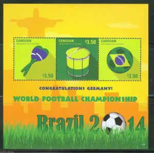 CANOUAN   2014 WORLD CUP BRAZIL GERMAN WINNERS  SHEET   MINT NH
