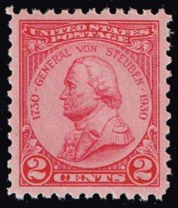 US STAMP #689 – 1930 2c General von Steuben  MNH/OG  SUPERB