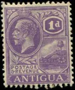 Antigua SC# 44 SG# 64 King George V 1d wmk 4 MLH