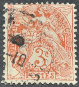 DYNAMITE Stamps: France Scott #111- USED