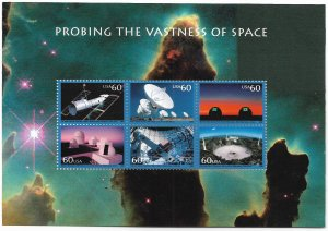 USA 3409 MNH SHEET PROBING THE VASTNESS OF SPACE