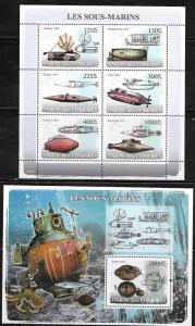 Comoro Islands 997-98 Submarines Mint NH