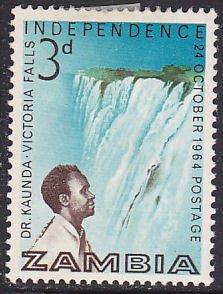 Zambia 1  Pres. Kenneth D. Kaunda, Victoria Falls 1964