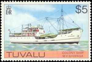 Tuvalu #23-37, Complete Set(15), 1976, Hinged