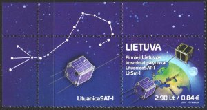 Lithuania. 2014. 1170. Satellite, space. MNH.