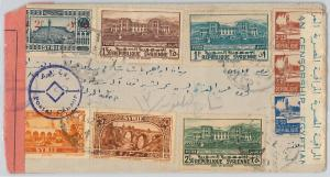 58954 - SYRIA  - POSTAL HISTORY: COVER to EGYPT with Egyptian CENSOR TAPE 1940