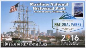2016, National Parks, Centennial, Maritime Historical Park, DCP, 16-160