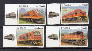 ANGOLA - TRAINS - DIESEL TRAINS - 2019 - 4 Stamps -