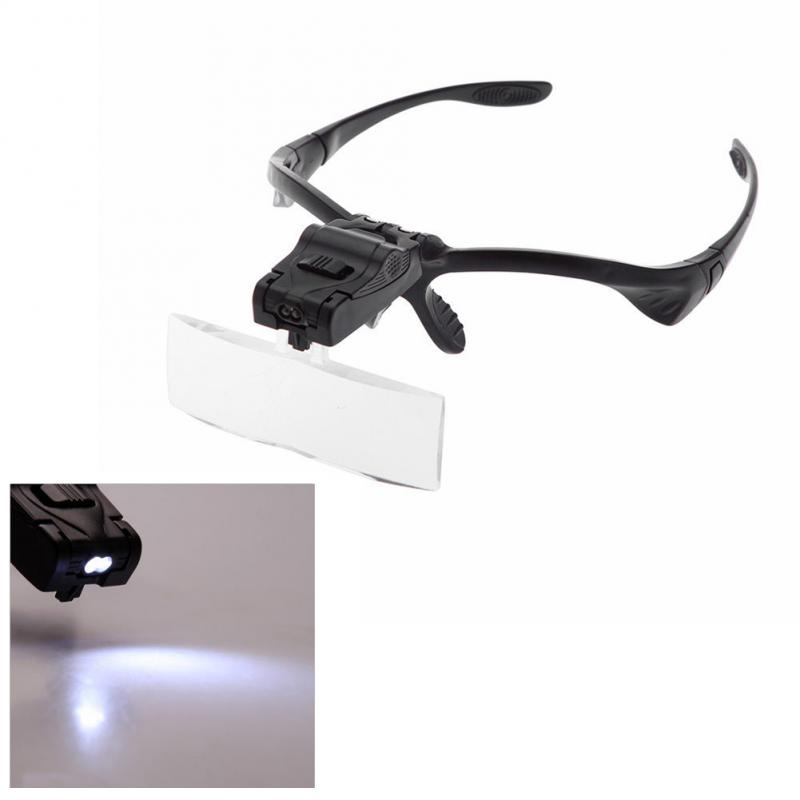 Headband Magnifier w/ LED Light! FREE SHIPPING! Great for Stamps and Coins!