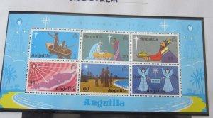 Anguilla 1974 Sc 210a Christmas Religion set MNH