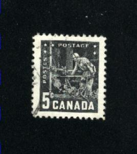 Canada  373  -3   used VF PD 1957