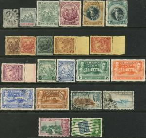 BARBADOS Sc#51 232 1875-1952 23 Different Better Stamps Mint & Used