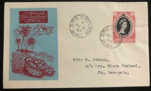 1953 Grenada QE2 Coronation First Day Cover Queen Elizabeth FDC To St George