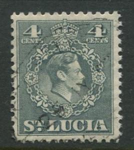 St. Lucia - Scott 138 - KGVI - Definitive -1949 - FU -Single 4c Stamp