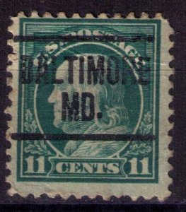 US Scott #511 Used PRECANCEL BALTIMORE MD  'LIGHT CREASE CENTER F-VF