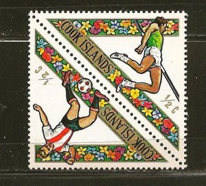 Cook Islands 254-255 Sports Se-tenant Triangle Pair MNH