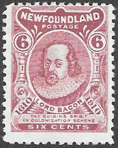 Newfoundland Scott Number 92 VG-F H
