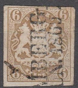 Bavaria #18   F-VF Used CV $50.00  (K1742)