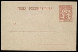 fr030 France Tubes Pneumatiques envelope 60c red unused