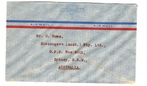 New Zealand  Commercial Cover to Australia Unfranked Unused