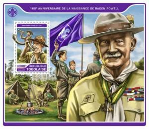 Togo - 2017 Robert Baden Powell - Stamp Souvenir Sheet - TG17214b