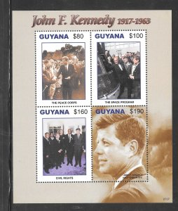 GUYANA #3978 MNH John F. Kennedy Souvenir Sheet.