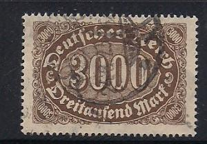 Germany Sc. #206 Used Inflation Issue Wmk.126 - L9