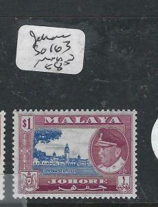 MALAYA JOHORE (P1605B)  SULTAN $1.00  SG 163   MNH