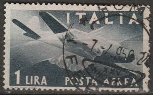 Stamp Italy SC C106 1945 Airmail Plane Posta Area Used